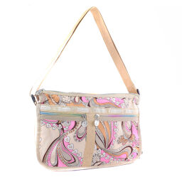 LeSportsac Lesportsac Nylon Beige Ladies Shoulder Bag 【Pre-owned】 A Rank