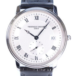 FREDERIQUE CONSTANT Frederick Constant FC220 / 245X4S25 / 6 Stainless Steel × Leather Silver Quartz Men's Silver Dial Watch [Used] A-rank