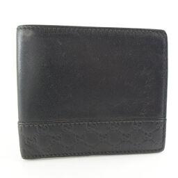 GUCCI グッチ 二つ折り札入れ 256408 カーフ 黒 メンズ 長財布【中古】