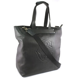 CHARRIOL Charioll 2WAY bag leather black men's tote bag [pre-owned] A + rank