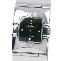 OMEGA オメガ コンステレーション カレ 1521.41 ステンレススチール クオーツ レディース 黒文字盤 腕時計【中古】A-ランク