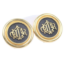 Dior Christian Dior Vintage GP Gold Women's Earrings [Used] A Rank