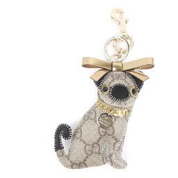 GUCCI Gucci Gucciori Pug Charm GG Plus Unisex Keychain [Used] A + Rank