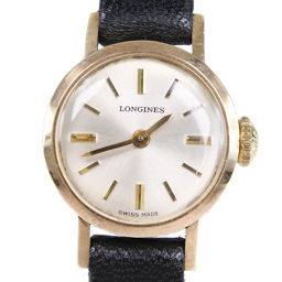 LONGINES Longines stainless steel gold hand-rolled ladies silver dial watch [pre-owned]