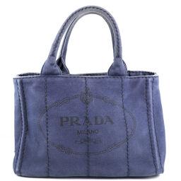 PRADA Prada Mini Kanapatoto Canvas Ladies Handbag [Used]