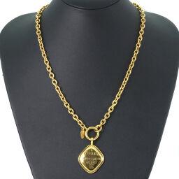 CHANEL Vintage Rhombus GP YG / WG Ladies Necklace [Used] A rank