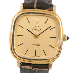 OMEGA Omega Devil / Devil cal.625 511.0471 Stainless Steel x Leather Manual Winding Ladies Gold Dial Wrist Watch [Used]