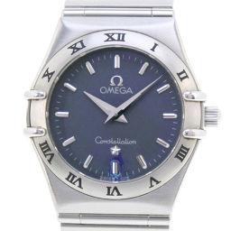 OMEGA オメガ コンステレーションミニ 1571.51  ステンレススチール シルバー クオーツ レディース ブルー文字盤 腕時計【中古】