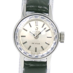 OMEGA Omega Devil / Devil Stainless Steel x Leather Automatic Ladies Silver Dial Watch [Used]