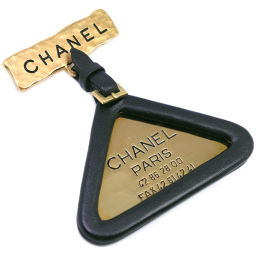 CHANEL シャネル トライアングル A03460Y02023 GP×カーフ ゴールド 94P刻印 レディース ブローチ【中古】A-ランク