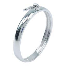 K18ホワイトゴールド×ダイヤモンド 16.5号 0.05刻印 レディース リング・指輪【中古】SAランク