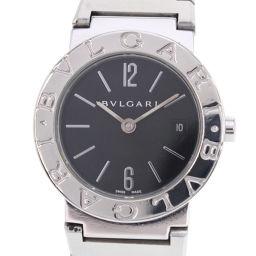 BVLGARI ブルガリ ブルガリブルガリ BB26SS ステンレススチール シルバー クオーツ レディース 黒文字盤 腕時計【中古】