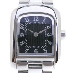 COACH コーチ W022A ステンレススチール シルバー クオーツ レディース 黒文字盤 腕時計【中古】