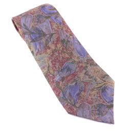 renoma Renoma Flower Pattern Purple Men's Necktie [Pre] A-rank