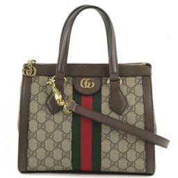 GUCCI Gucci Offidia GG Small 2Way Shoulder 547551 GG Supreme Canvas Brown Ladies Handbag [Used] A rank