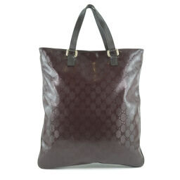 GUCCI Gucci GG Imprime 272347 PVC coated canvas brown unisex handbag [used]