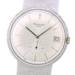 PATEK PHILIPPE パテックフィリップ カラトラバ cal.27-460M 3445/6 K18ホワイトゴールド 手巻き メンズ シルバー文字盤 腕時計【中古】