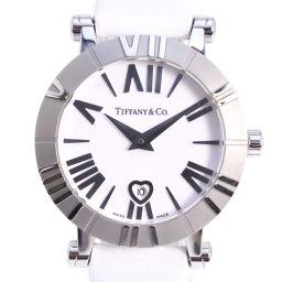 TIFFANY&Co. ティファニー アトラス ハート Z1300.11.11A20A41A ステンレススチール×サテン シルバー クオーツ レディース 白文字盤 腕時計【中古】A+ランク