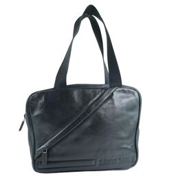 MIUMIU Miu Miu Calf Black Ladies Handbag [Used]