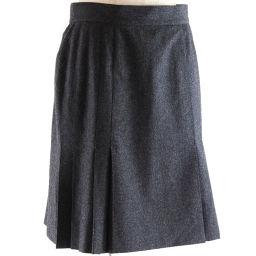 CHANEL シャネル P03474/V03532 ウール×シルク グレー レディース スカート【中古】Aランク