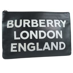 BURBERRY Burberry Graffiti 4075008 1 GG Canvas Charcoal Unisex Second Bag [Used]