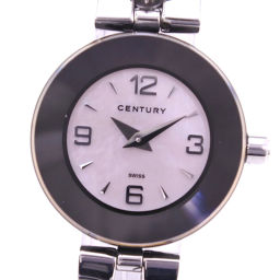 CENTURY Century Time Gem TIME DEM Stainless Steel Ladies Pink Shell Dial Watch [Pre]