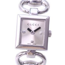 GUCCI グッチ 3Pダイヤ 120 ステンレススチール クオーツ レディース シルバー文字盤 腕時計【中古】A-ランク
