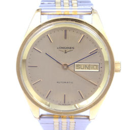 LONGINES Longines 63616562121 Stainless steel silver automatic winding mens gold dial watch [pre-owned]