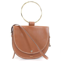 theory Shiny WHITNEY H05AC018 calf brown women's shoulder bag [pre-owned] A rank