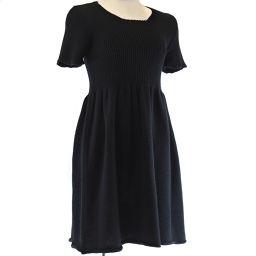 MIUMIU Miu Miu针织短袖羊毛黑色女士连衣裙[二手]