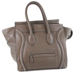 CELINE Celine Luggage Mini Shopper Calf Suri Gray Ladies Handbag [Used]