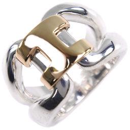 HERMES エルメス ヒストリー K18イエローゴールド×シルバー925 6.5号 レディース リング・指輪【中古】A-ランク