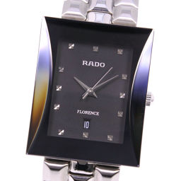 RADO Rado Florence 129.3771.4 Stainless Steel Quartz Men Black Dial Watch [Used]