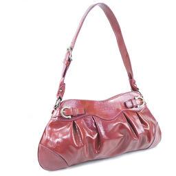 Salvatore Ferragamo Salvatore Ferragamo Patent Leather Red Ladies Handbag [Used]