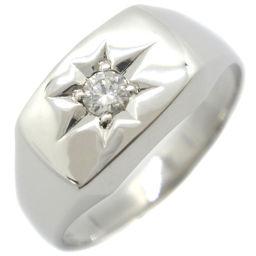 印台 Pt900プラチナ×ダイヤモンド 14号 D0.13刻印 メンズ リング・指輪【中古】A+ランク