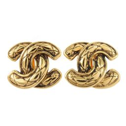 CHANEL Coco Mark / Matrasse Vintage GP Women's Earrings [Used] A Rank