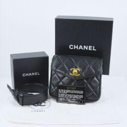 CHANEL Chanel Matrasse Pochette 95A A05675 X01060 Lambskin Ladies Waist Bag [Used] B-Rank