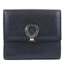 BVLGARI Bvlgari Bvlgari logo leather black unisex bi-fold wallet [used] SA rank