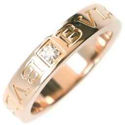 BVLGARI ブルガリ ブルガリブルガリ ダブルロゴ K18ピンクゴールド×ダイヤモンド 9.5号 レディース リング・指輪【中古】SAランク