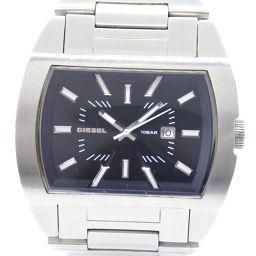 DIESEL ディーゼル DZ-1141 ステンレススチール クオーツ メンズ 黒文字盤 腕時計【中古】