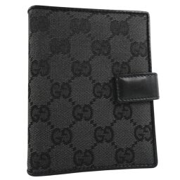 GUCCI Gucci 031.2031.1014 GG canvas black unisex notebook cover [used]