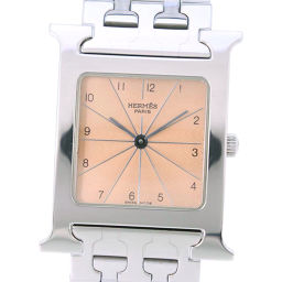HERMES エルメス Hウォッチ HH1.510 ステンレススチール クオーツ メンズ ブロンズ文字盤 腕時計【中古】A-ランク