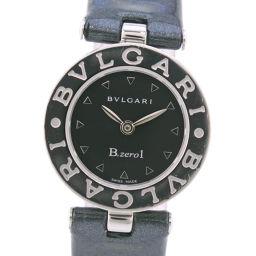 BVLGARI ブルガリ Bzero1 ビーゼロワン BZ22S ステンレススチール×パテントレザー クオーツ レディース 黒文字盤 腕時計【中古】A-ランク
