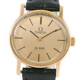 <html>    <body>   OMEGA オメガ デヴィル/デビル cal.625 ステンレススチール×レザー 手巻き レディース ゴールド文字盤 腕時計【中古】        </body> </html>