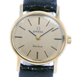 OMEGA Omega Geneve cal.625 Stainless Steel x Leather Gold Manual Winding Analog Display Ladies Gold Dial Watch [Used]