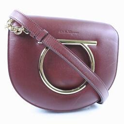 Salvatore Ferragamo Salvatore Ferragamo Gancio Calf Brown Women's Shoulder Bag [Used] A rank