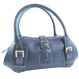 LOEWE Loewe Calf Blue Ladies Handbag [Used] A-Rank