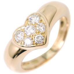 TIFFANY&Co. ティファニー ハート 6Pダイヤ K18イエローゴールド×ダイヤモンド 7号 レディース リング・指輪【中古】SAランク