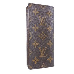 LOUIS VUITTON Louis Vuitton Glasses Case Etuy Lunette Sarnpull M62962 Monogram Canvas Brown MI0995 Engraved Unisex Pouch [Used] A Rank