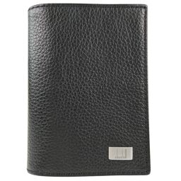 Dunhill Dunhill Business Card Holder Calf Black Men's Card Case [Used] A Rank